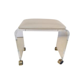 Lucite Cushioned Vanity Stool