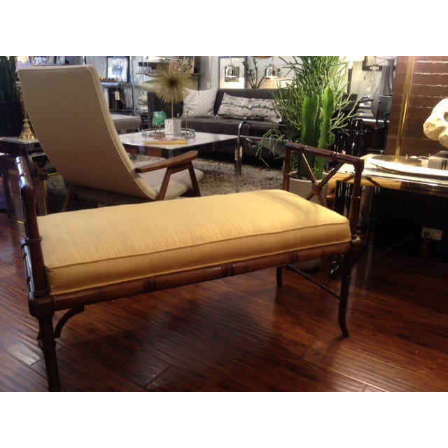 Vintage Faux Bamboo Chippendale Bench - Image 6 of 6
