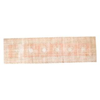 "Vintage Distressed Oushak Rug Runner - 3'1"" x 10'11"""