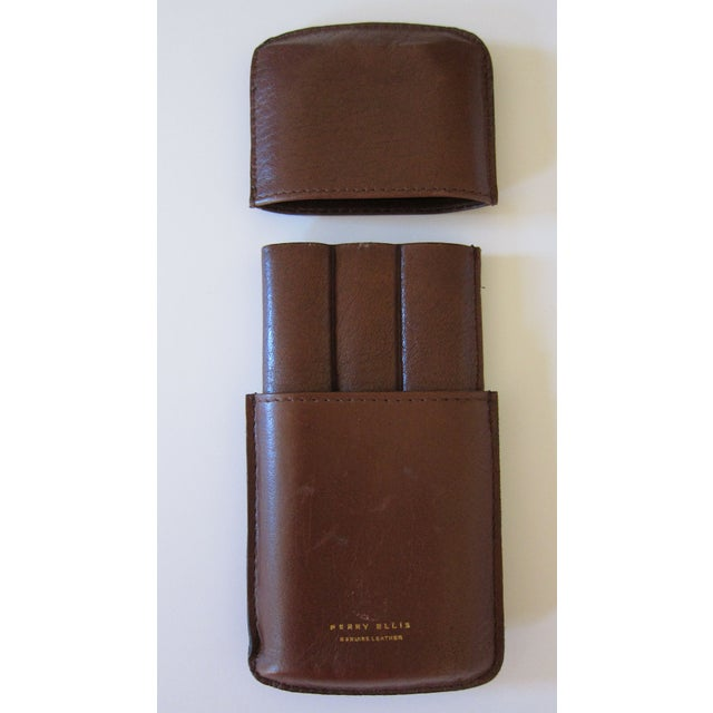 Perry Ellis Leather Cigar Case - Image 3 of 4