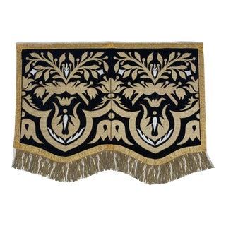 19th Century Italian Metallic Appliqued Textile