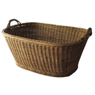 French Oval Laundry Basket