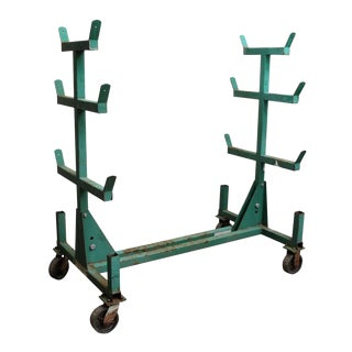 Green Industrial Conduit Cart
