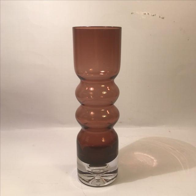 Image of Mid-Century Amethyst Swedish Art Glass Vase