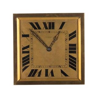Tiffany & Co. 1930s Original Art Deco Bronze Clock