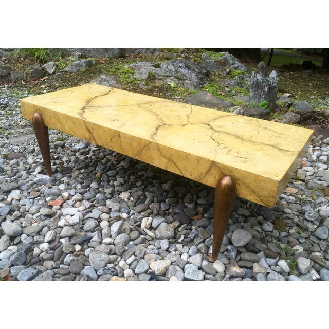 Mid Century Faux Marble Coffee Table - Image 2 of 7