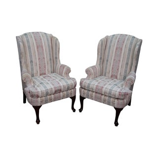 Thomasville Traditional Queen Anne Wing Chairs - 2
