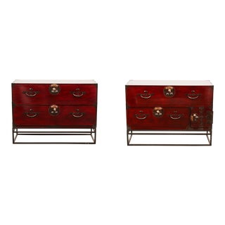Pair of Late 19th Century Meiji Sendai Chests