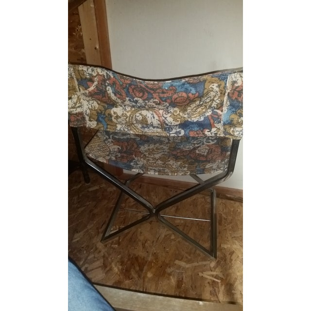 Mid Century Chrome Director X-Base Chair. - Image 6 of 7