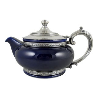 1920s Cobalt Blue Hotel Two Cup Teapot