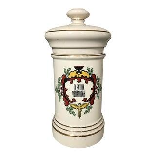 Vintage Porcelain Apothecary Lidded Jar