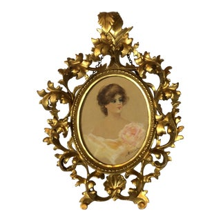 Venetian Gilt Framed Portrait