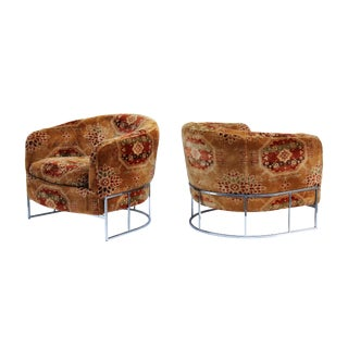 Pair of Tufted Chairs by Milo Baughman for Thayer Coggin