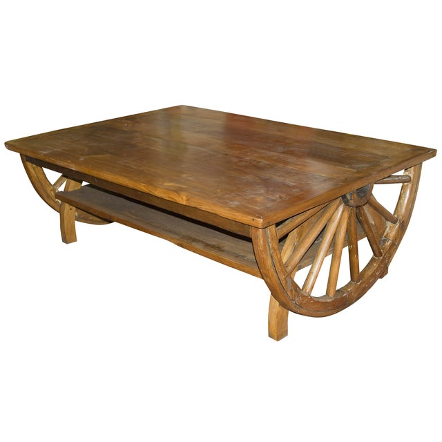 Wagon Wheel Table Chairish