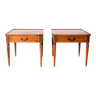 Henredon Tapered Leg Side Tables - A Pair