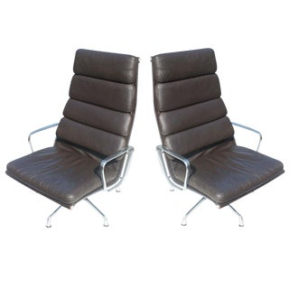 Herman Miller Eames Soft Pad Lounge Chairs - A Pair