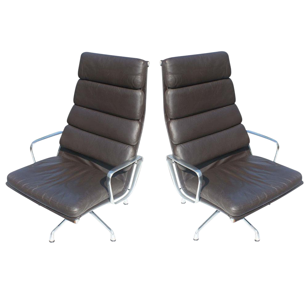 Herman Miller Eames Soft Pad Lounge Chairs   A Pair