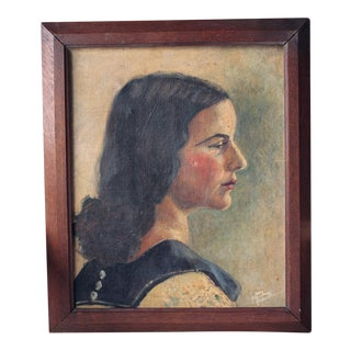 Oil Portrait of a French Woman