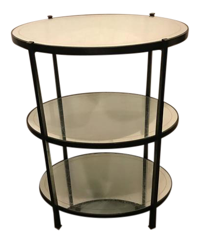 Jonathan Charles Three Tier Eqlomise Side Table
