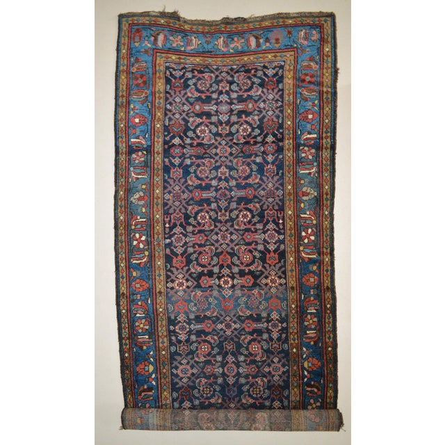 """Antique Persian Wide Runner- 3'10"""" X 9'7"""" - Image 2 of 11"""