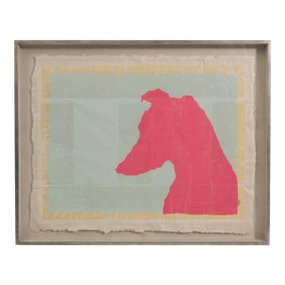 Dog Head Color Screen Print on Japan Paper