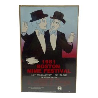 Boston Mime Festival Poster