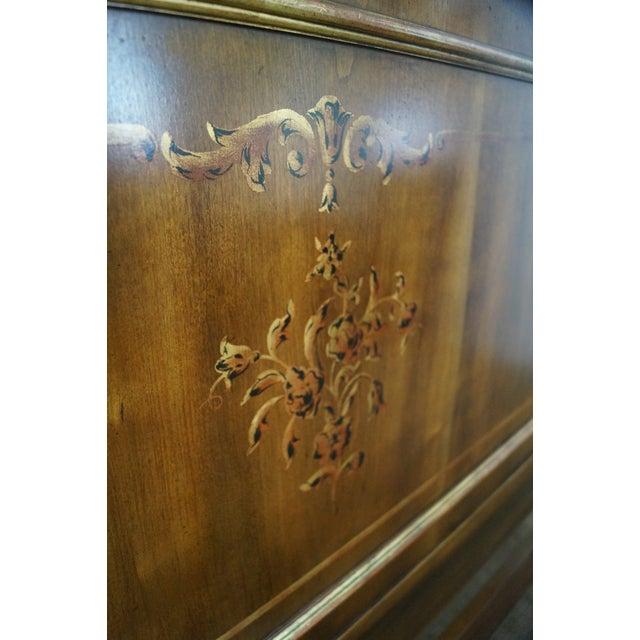 Image of John Widdicomb Hand Painted Queen Size Headboard