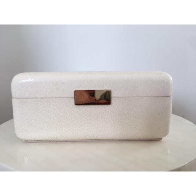 Cream Shagreen Jewelry Box - Image 2 of 6