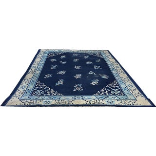 Worn Out Chinese Peking Area Rug - 9′ × 11′6″