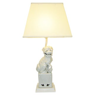 Mid-Century Ceramic Foo Dog Table Lamp