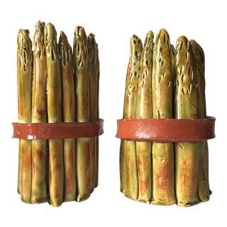 Asparagus Candle Holders - a Pair