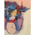 Image of Mid-Century Abstract Modern Painting, Signed