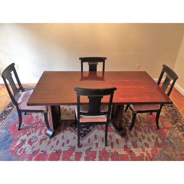 Image of Jules Leleu Neoclassical Dining Table & 4 Chairs