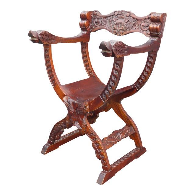 Vintage Asian Style Savonarola Chair - Image 1 of 11
