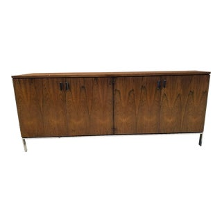 Milo Baughman for Founders Mid-Century Danish Modern Rosewood & Chrome Credenza