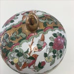 Image of Vintage Round Rose Medallion-Style Box With Lid
