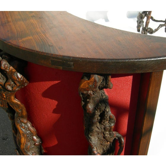 Wacky Burled Root Bar and Stools - Image 8 of 8
