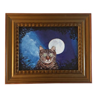 Judy Henn Cat With Moon Print