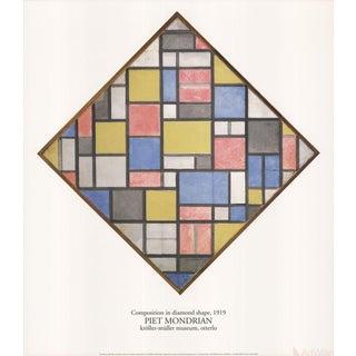 "Piet Mondrian ""Composition in Diamond Shape"" 1986 Poster"