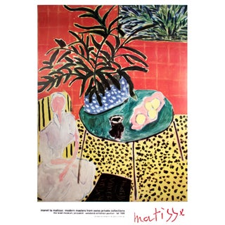 "Henri Matisse ""Interior with Black Fern"" Poster, 1989"