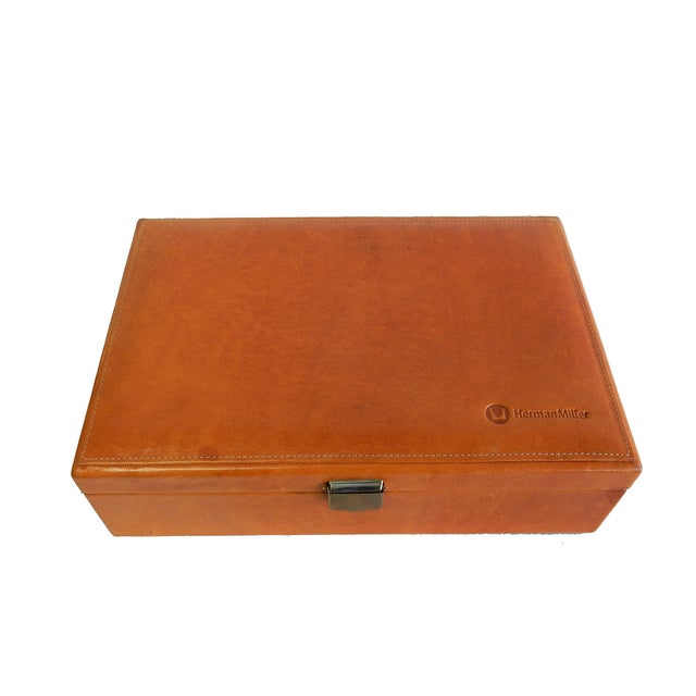 Image of Rare Herman Miller Leather Case Poker Game/Domino