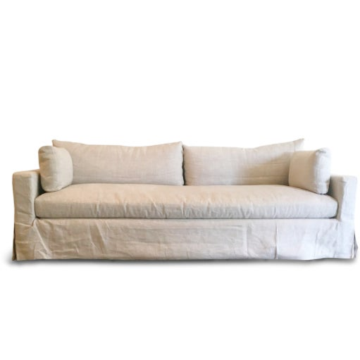 Restoration Hardware Belgian Linen Sofa - Image 1 of 4