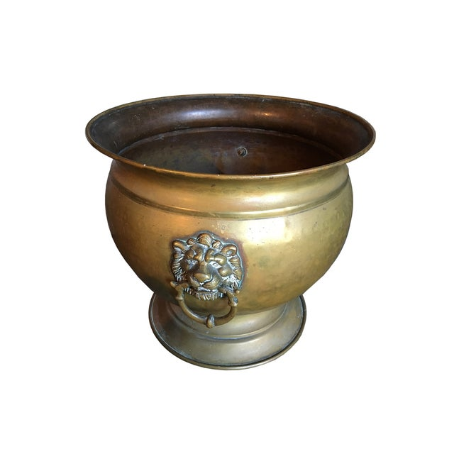 Antique Brass Jardiniere - Image 3 of 4