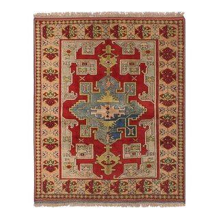 "Shiravan Vintage Turkish Rug, 5'3"" x 6'4"" feet"