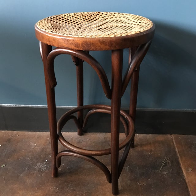 Image of Bentwood Caned Counter Stool