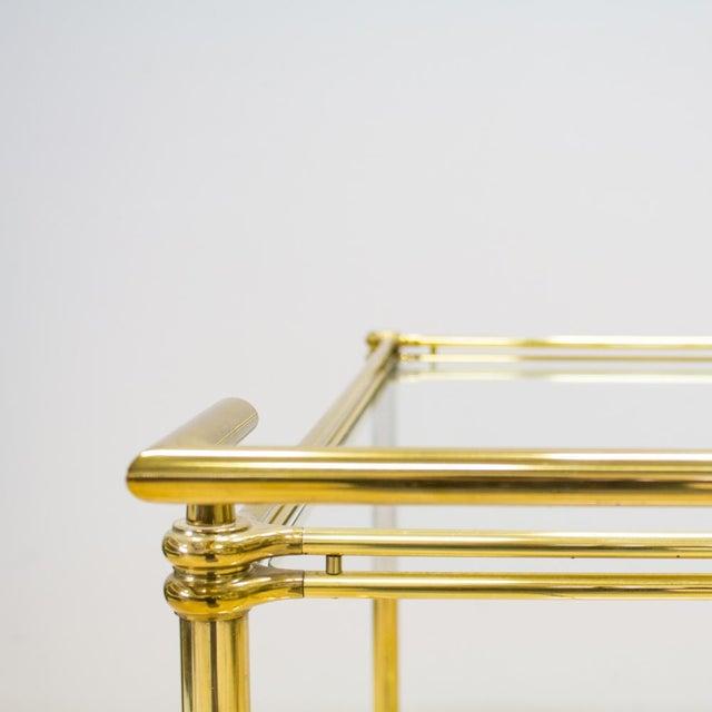 Italian Brass & Glass Bar Cart - Image 4 of 10