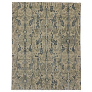 Transitional Ikat Rug with Modern Style, 07'10 x 10'00