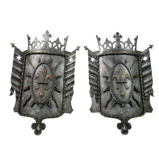 Medievial Shield Theater Light Covers - A Pair