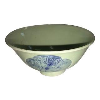 Crackled Finish Jade Porcelain Bowl