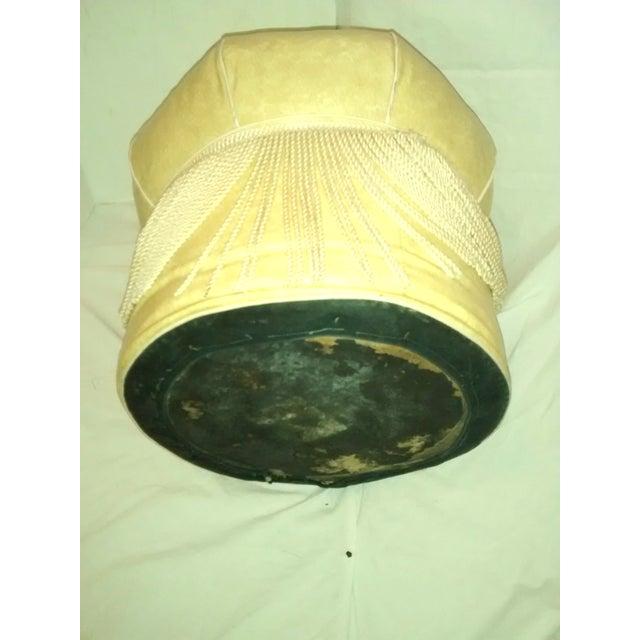 1960 S Mcm Yellow Vinyl Ottoman Foot Stool Pouf Chairish